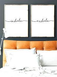 master bedroom wall art bedroom wall art inhale exhale print yoga wall art wall prints inhale