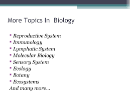 biology assignments  5 more topics in biology