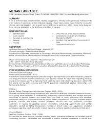 Child Care Resume Samples Australia Childcare Sample Orlandomoving Co