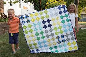 Patchwork on Point and 100 Quilts for Kids ~ Fresh Lemons Modern ... & I am donating this quilt ... Adamdwight.com
