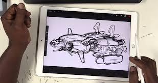 Drawing On Ipad Pro Drawing Tablet Vs Ipad Di Simple Tings