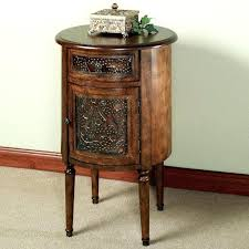 little side table console small with storage round metal rustic accent white outdoor tables target