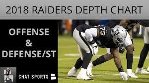 Packers Depth Chart 2018 Oakland Raiders Latest Depth Chart Entering Preseason Week 3 Vs Packers