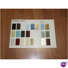 1969 Buick Color Chip Chart On Ebid United States 63670230
