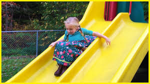 Playing at the Playground Park for Kids on Slides, Swings, Tire Swing,  Teeter Totter See Saw - YouTube