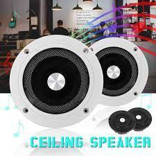 5.2 inç 60W 2 yönlü yuvarlak tavan in duvar ev hoparlörler sistemi gömme  montajlı hoparlör amplifikatör ile In-ceiling Speakers
