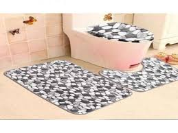 amazing deal on tapcet 3pc set brown washable soft bathroom for bathroom rug sets at