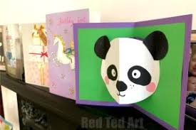 and a similar process we made a panda pop up card for my daughter s 9th birthday quick and easy