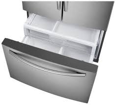 samsung dual ice maker refrigerator. Contemporary Maker RF30HDEDTSR Samsung 30 Cu Ft Capacity 3Door French Door Food ShowCase  Refrigerator With Dual Ice Maker  And