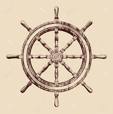 ship steering wheel vintage vector illustration by VladisChern, via  Shutterstock