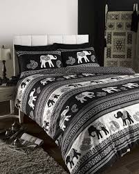 black reversible elephant themed paisley design bedding duvet cover set 8159 p jpg