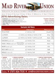 ad sample ad rates and sample ads mad river union