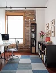 industrial home furniture. Gorgeous Rug Adds A Touch Of Softness To The Home Office [Design: Pause Architecture Industrial Furniture