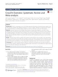 Pdf Crossfit Overview Systematic Review And Meta Analysis