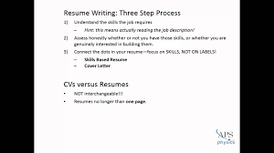How To Write An Effective Resume Youtube
