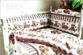 nature bedding sets snoopy bed cotton ladybug neutral striped crib set rustic baby ladyb