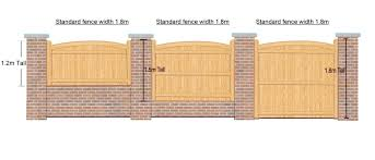 4ft high x 6ft wide fence panel the chappelwood