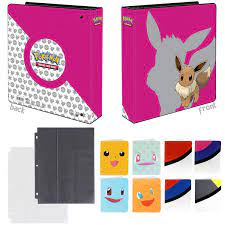 Totem World Eevee 3-Ring Binder with 25 9-Pocket Pages and 1 Mini Album  Inspired Poke Ball, Pikachu, Charmander, Squirtle, or Bulbasaur - Perfect  for Pokemon Cards- Buy Online in Guernsey at guernsey.desertcart.com.