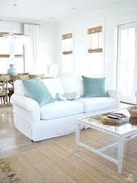 coastal living room design. Coastal Living Decor Beach House Room Design White Stone Fireplace Couches