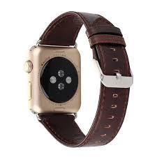 vintage leather apple watch band dark brown made of leather apple watch bands straps