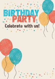 Celebrate With Us Birthday Invitation Template Free In