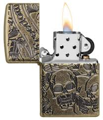 <b>Зажигалка Armor™</b> Freedom Skull Antique Brass™ <b>ZIPPO</b> 49035 ...