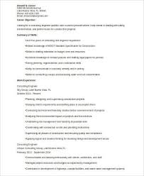 8 Sample Consulting Resumes Sample Templates