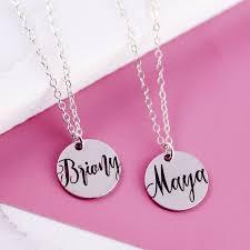 bestfriend necklace sterling silver