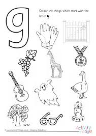 Letter G Colouring Pages