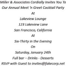 Party Rsvp Template Cocktail Party Invitation Wording Ideas