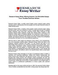 research essay writer offering superior yet affordable essays from  research essay writer offering superior yet affordable essays from the best american writers