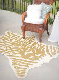 diy faux zebra rug decor fix
