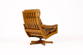 norwegian vintage office chair. #1014 \u2014 Danish Modern / Mid Century Teak Reclining Swivel Lounge Chair Lied Mobler Norwegian Vintage Office