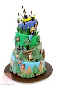 Grooms Hunting Sports Themed Cake