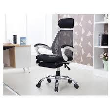white frame office chair. Fagelbo White Frame Designer High Mesh Back Office Chair With Leg Rest E