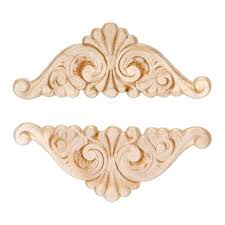 wood appliques for furniture fan wing ding wood appliques decorative wood wood crafts 2 pcs wood wood appliques