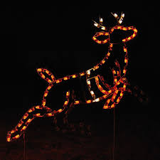 Reindeer Christmas Lights Outdoor Animated Lead Reindeer Display 1212 N Outdoor Christmas