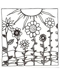 Drawn sunset coloring page - Pencil and in color drawn sunset ...