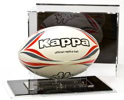 Rugby Ball Display Stand Impressive Rugby Ball Display Case For Size 32 With Black BackPanel Rugby