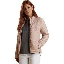 barbour lorne quilt jacket women s pale pink