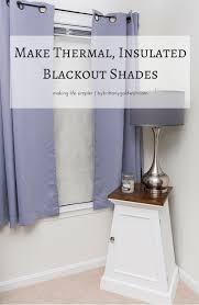make thermal blackout shades