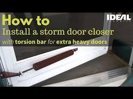 screen door closer heavy door closers