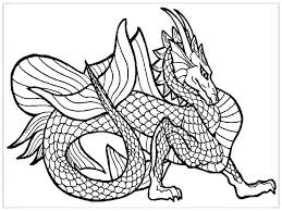Dragon Coloring Pages Realistic Realistic Dragon Coloring Pages For