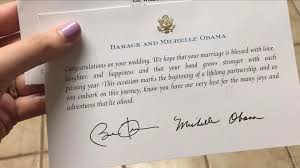 you have to read the obamas response to this cute couple s wedding invite