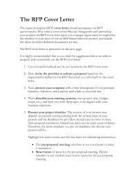 Rfp Proposal Cover Letter Rome Fontanacountryinn Com