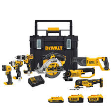dewalt power tools catalogue. dewalt 20-volt max lithium ion cordless combo kit (7-tools) with dewalt power tools catalogue
