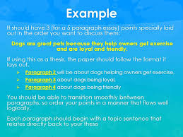 paragraph ppt video online  example it should have 3 for a 5 paragraph essay points specially laid out