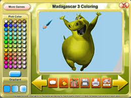 Small Picture Madagascar 3 Coloring Game Download for PC and Mac