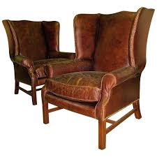 Leather Wingback Chair For Sale Leather Wingback Chair Home Interior Design
