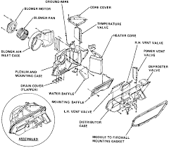 1 exploded view of the heater assembly ponents 1980 81 lemans shown